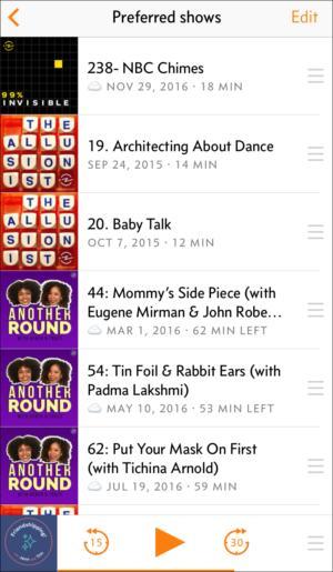 podcastapps overcast playlist