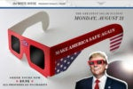 White House to issue commemorative solar eclipse safety glasses