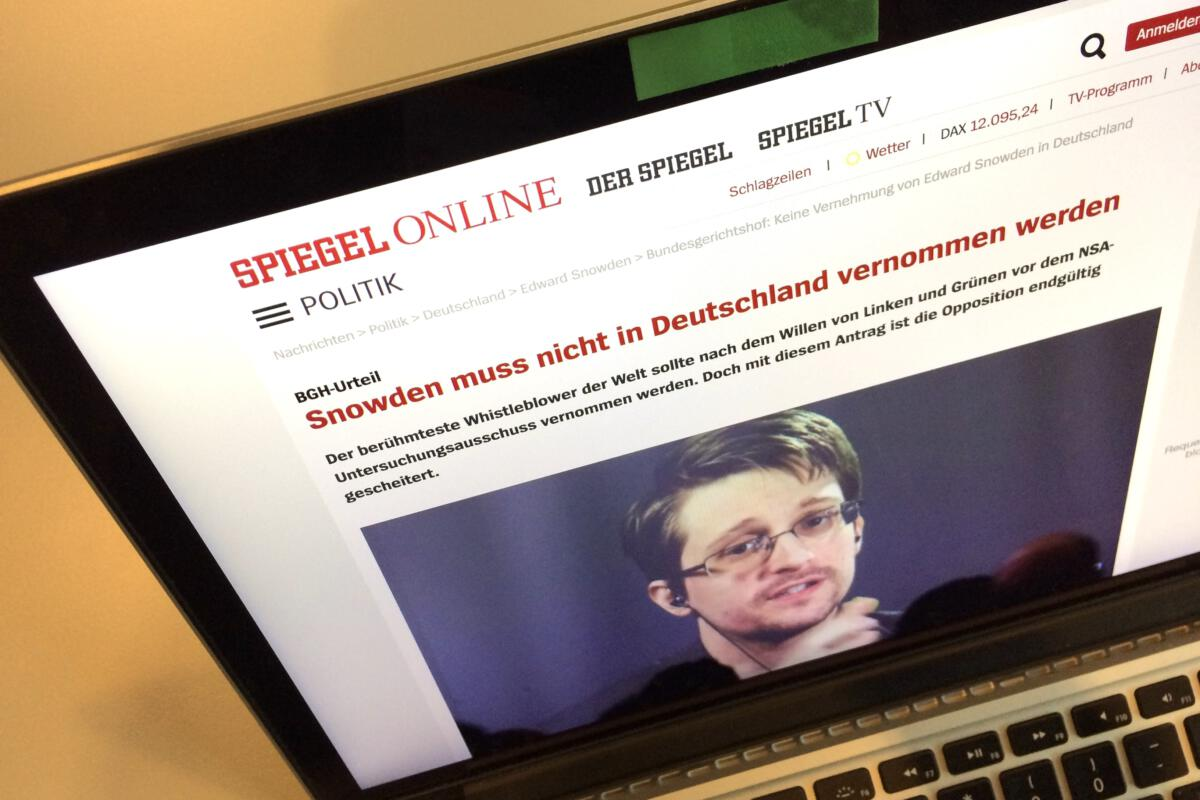 snowden in headline