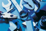 pile of tools blue duotone