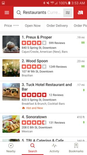 tourism apps yelp