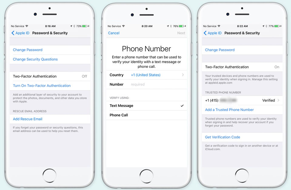 How to change trusted number on iphone 6s