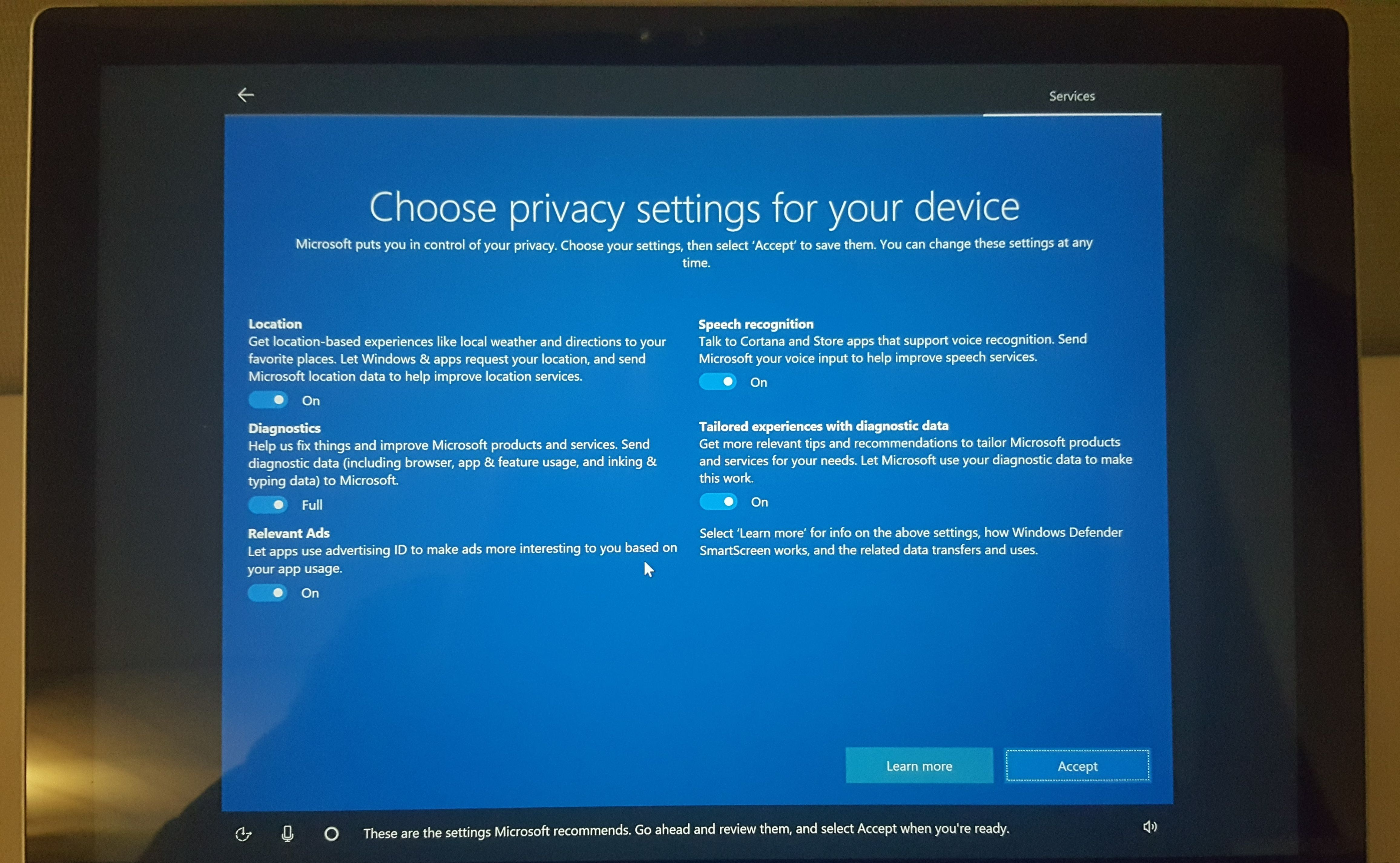 Windows 10 creators update the 5 biggest changes pcworld for Window privacy options