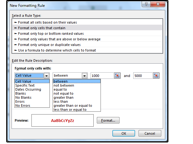 So passen Sie die Bedingungsformatierung von Excel