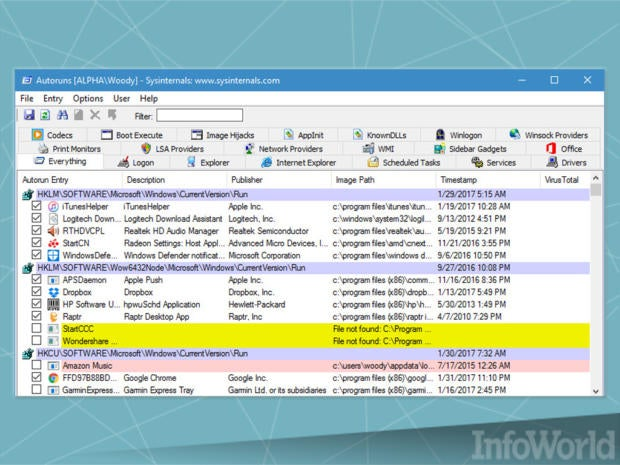 Best system administration tool: Autoruns