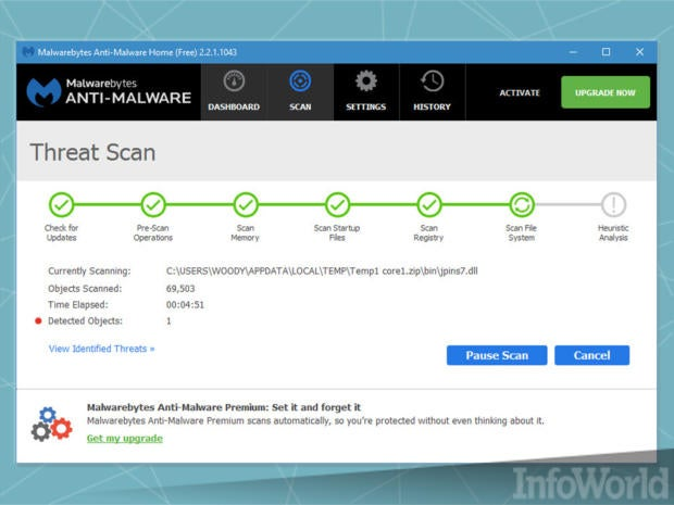 Double-check for infections with Malwarebytes