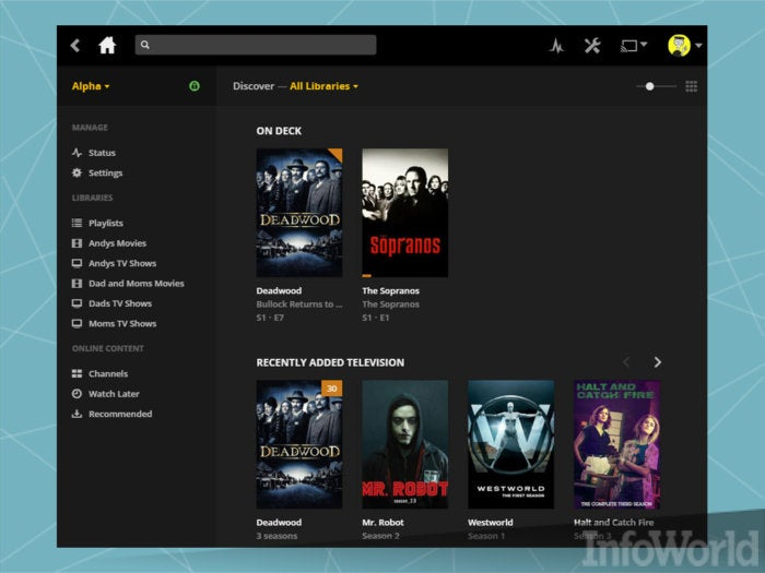 Get to your music, videos, and photos anywhere with Plex Media Server