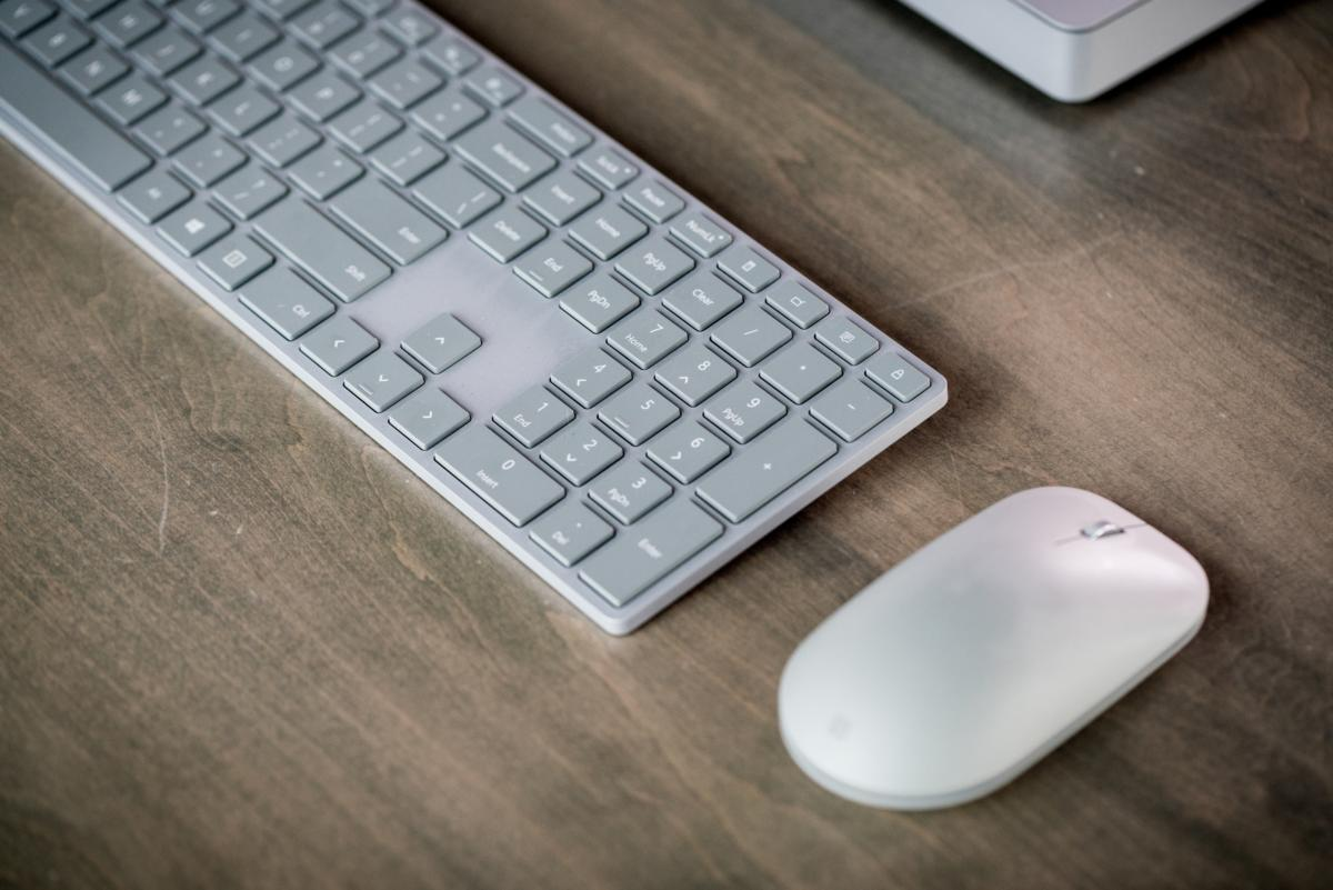 Microsoft Surface Studio mouse and keyboard
