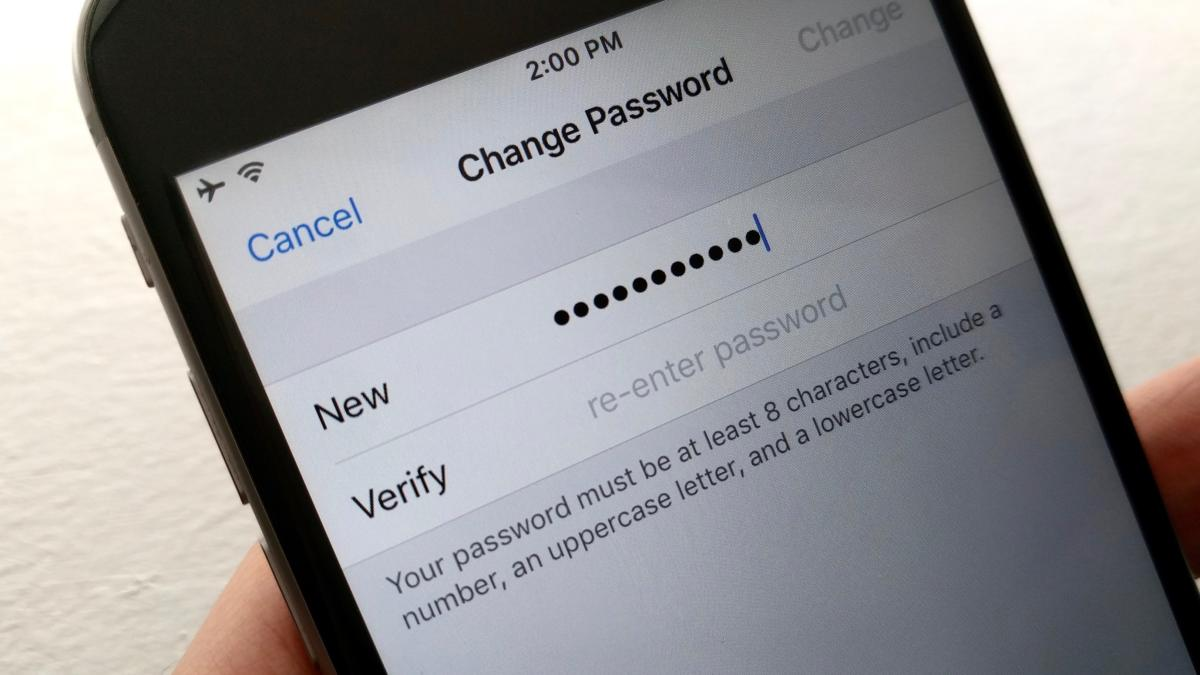 4 ways to protect your icloud password change your password 1