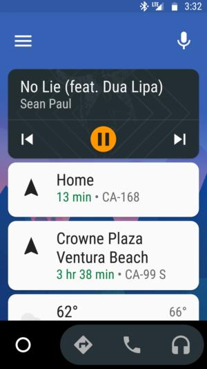 android auto home