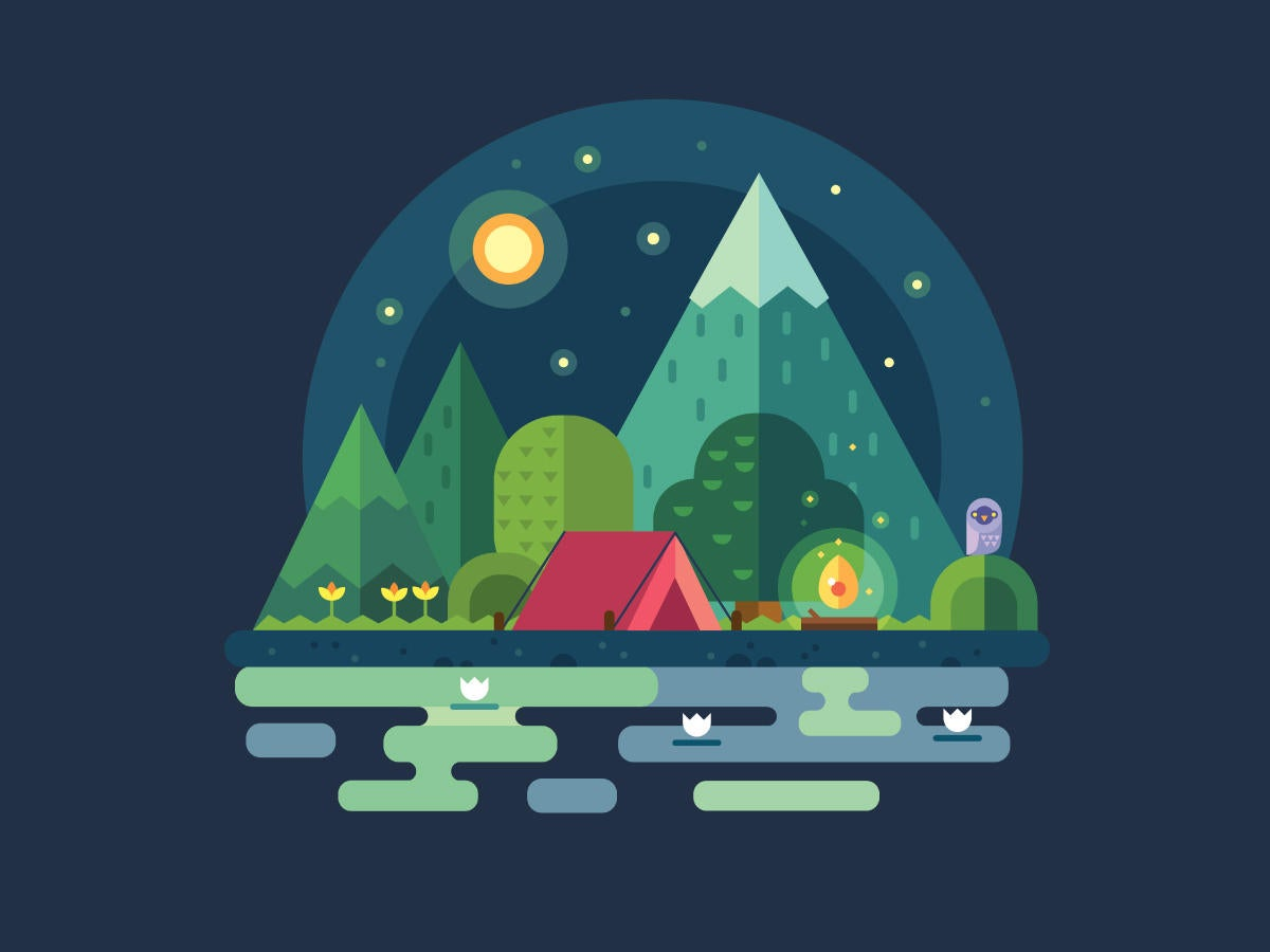 camp night landscape mountains <<< HOLD - LEAD ART FOR UPCOMING CW FEATURE >>>