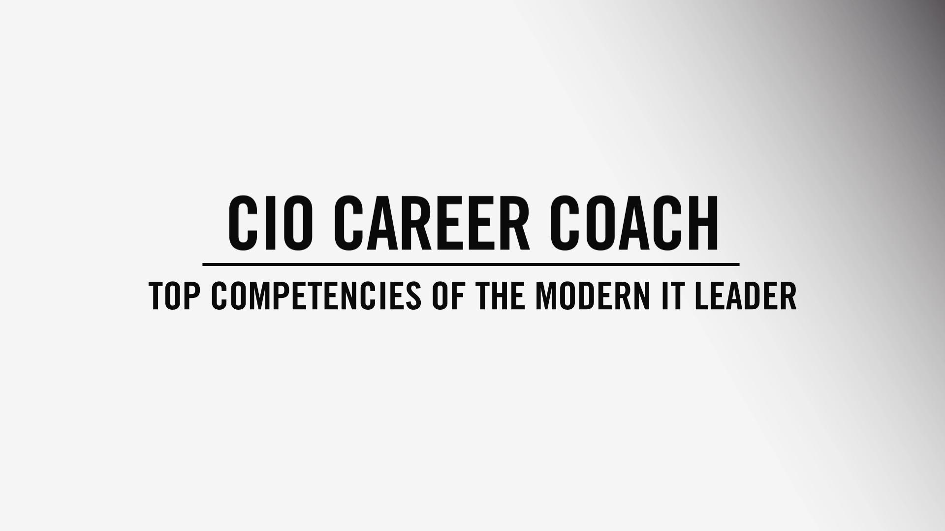 CIO Career Coach