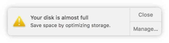 disk space