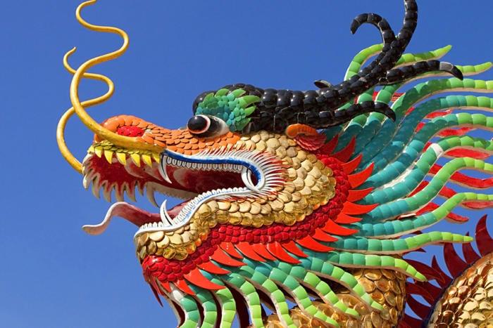 dragon statue head