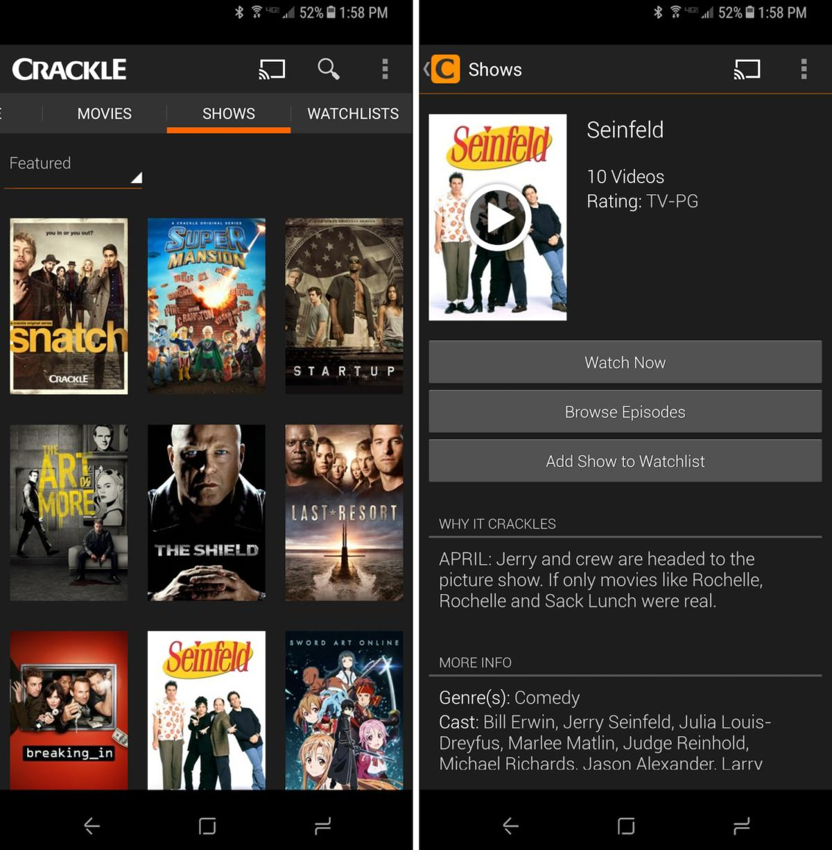 free tvapps crackle