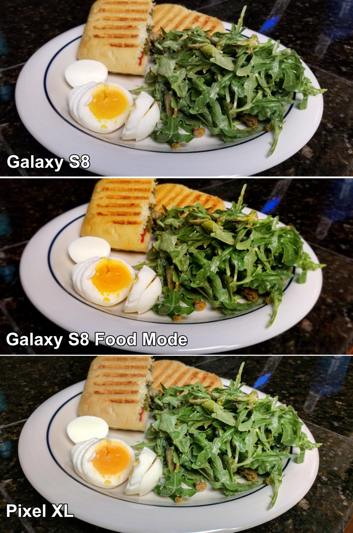 galaxy s8 pixel dinner compare