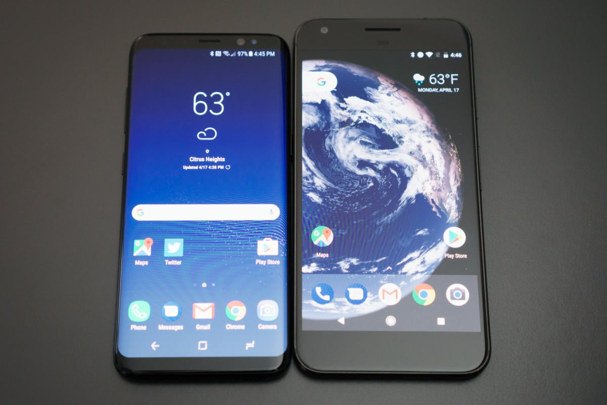 galaxy s8 size comparison