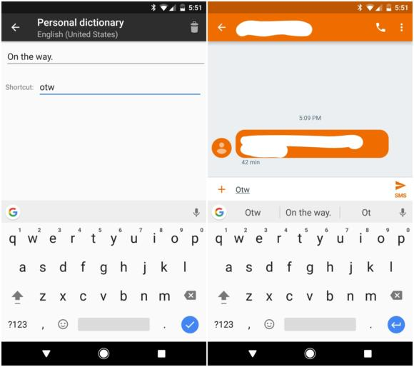 gboard personal dictionary