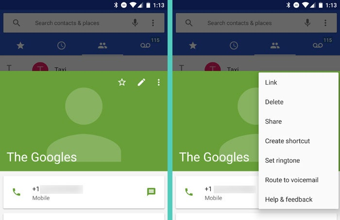 Google Android Phone App: Route to Voicemail