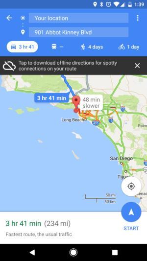 google maps directions offline