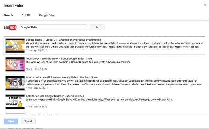google slides youtube