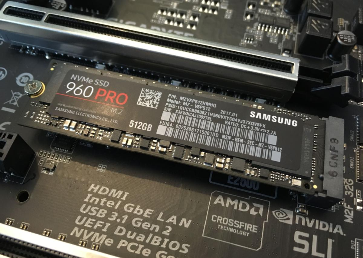 Samsung 960 Pro M.2 SSD