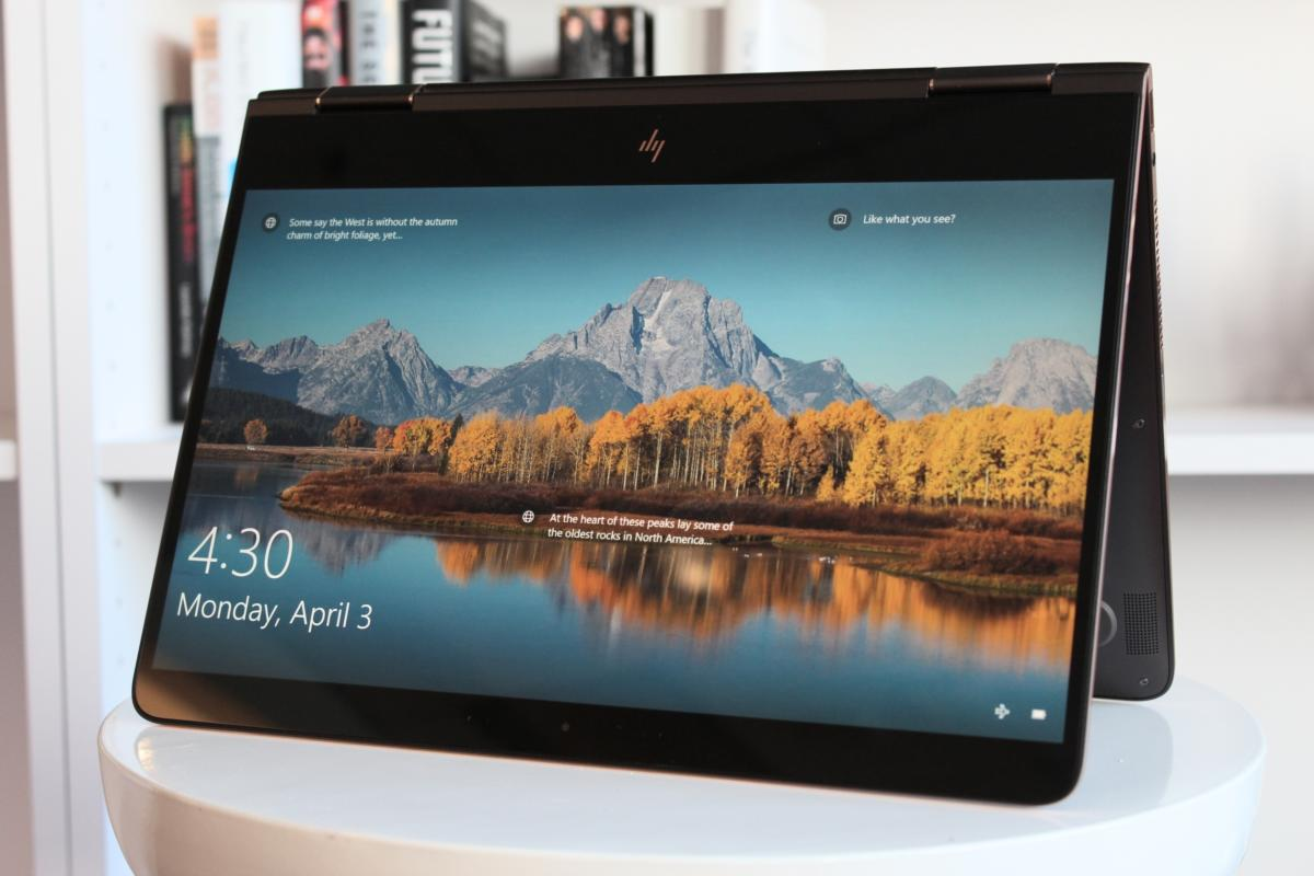 HP Spectre x360 2017 tent mode
