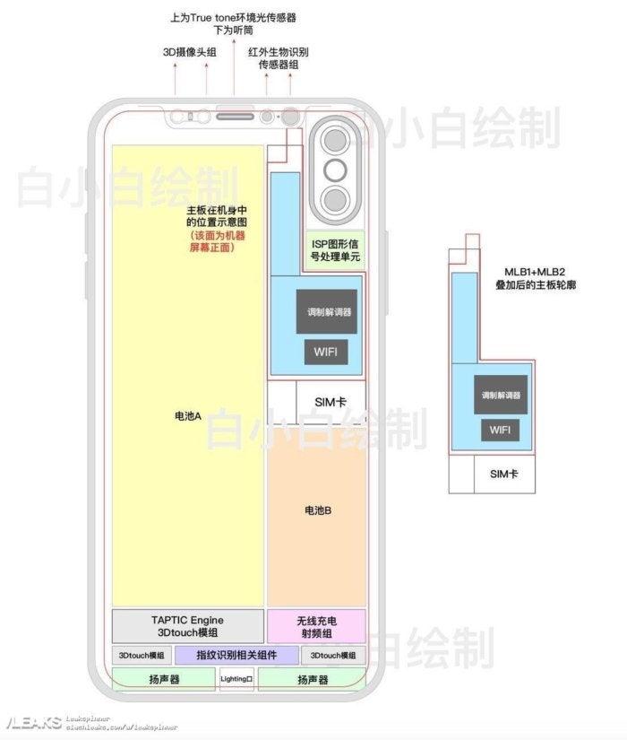 iphone 8 internals schematic leak