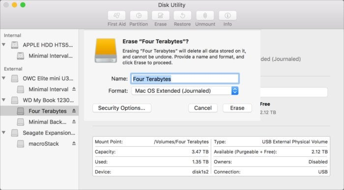 mac911 disk utility check partition format