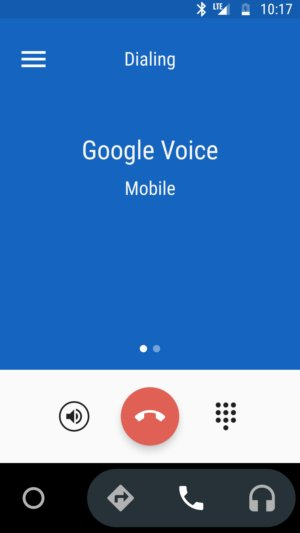 make a call android auto