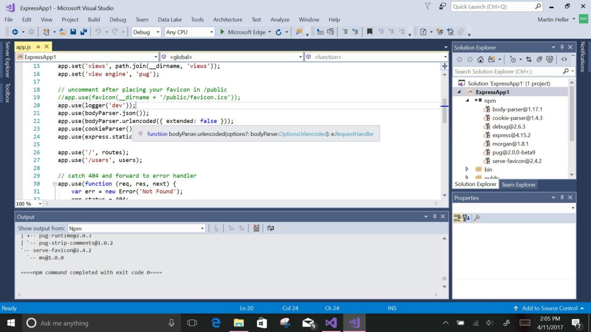 Visual Studio may gain AI smarts around available code