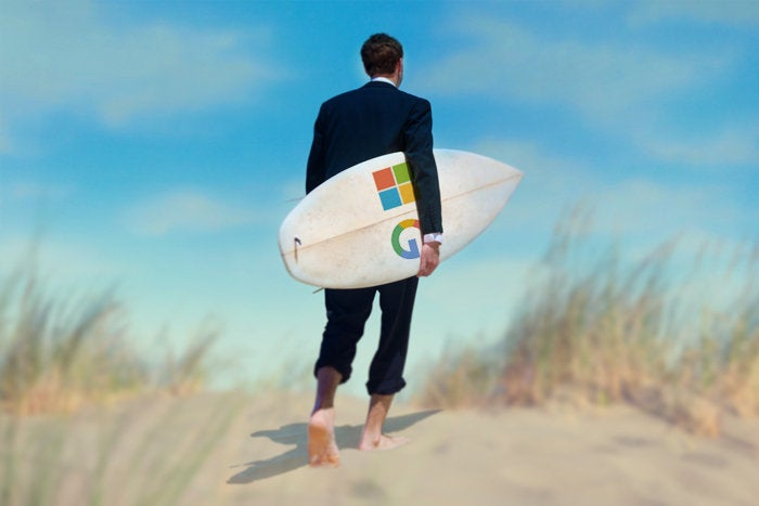 microsoft google surfing cloud primary