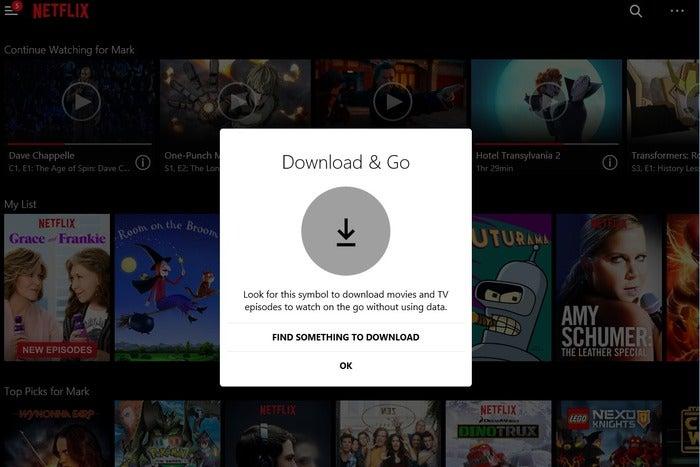 Netflix offline streaming lands on Windows 10 PCs ...