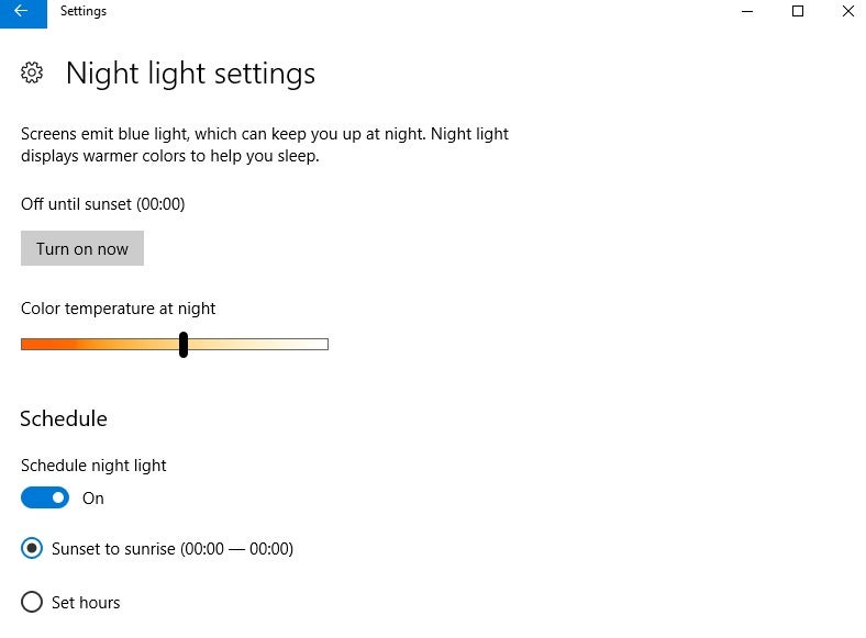 How To Use Night Light In The Windows 10 Creators Update Pcworld