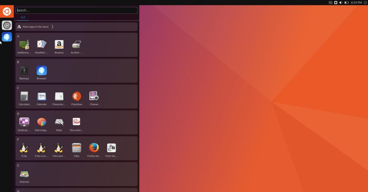 Ubuntu 17.04's Unity 8 search