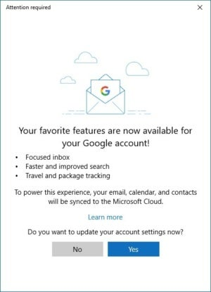windows 10 gmail focused inbox