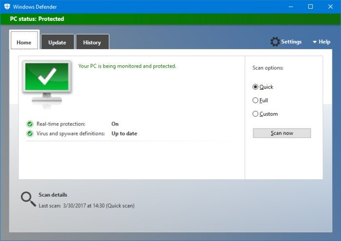 windowsdefender0-100717148-large Gặp và nhận xét Windows Defender Security Center trong windows 10 mới