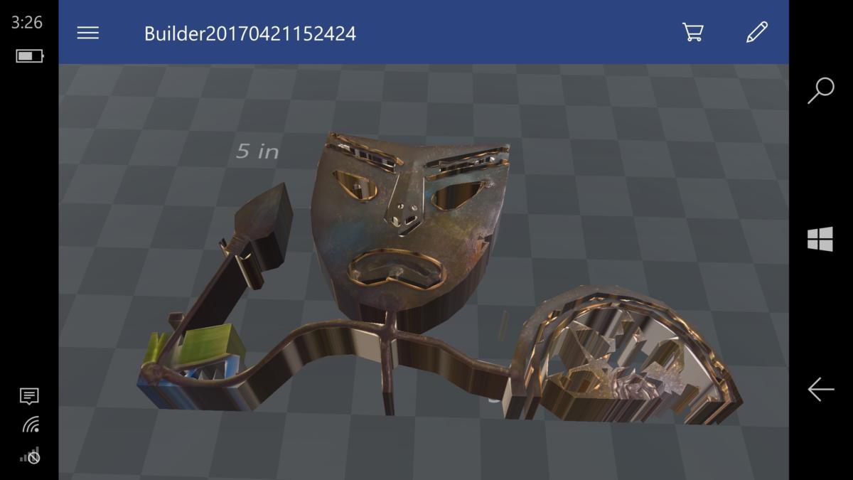Windows 10 Mobile Creators Update 3D Builder
