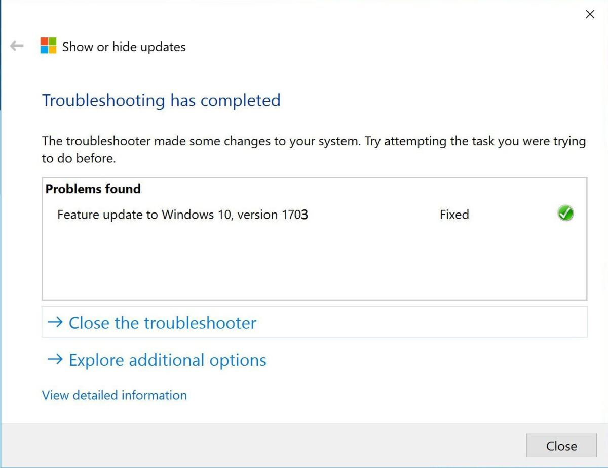 manually update to windows 10 1703