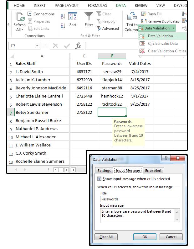 04 create a custom input message for passwords