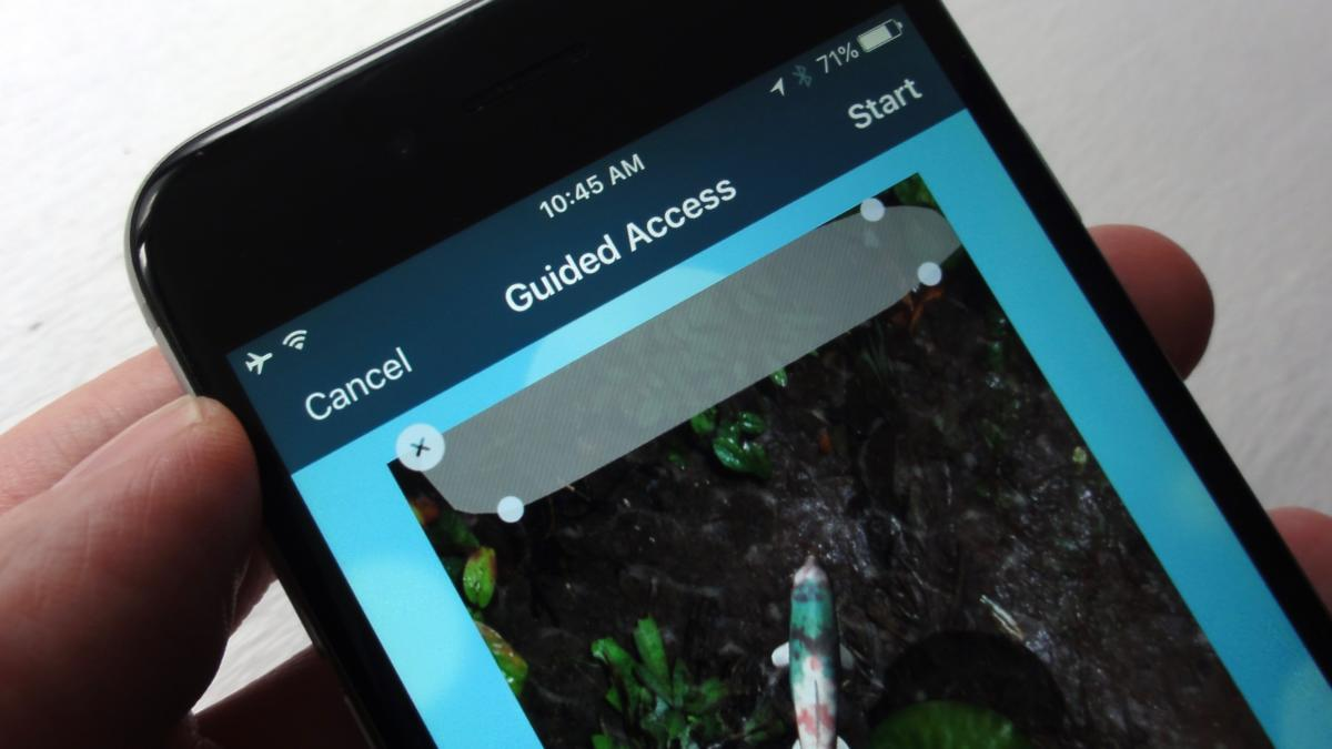 iOS Guided Access mode