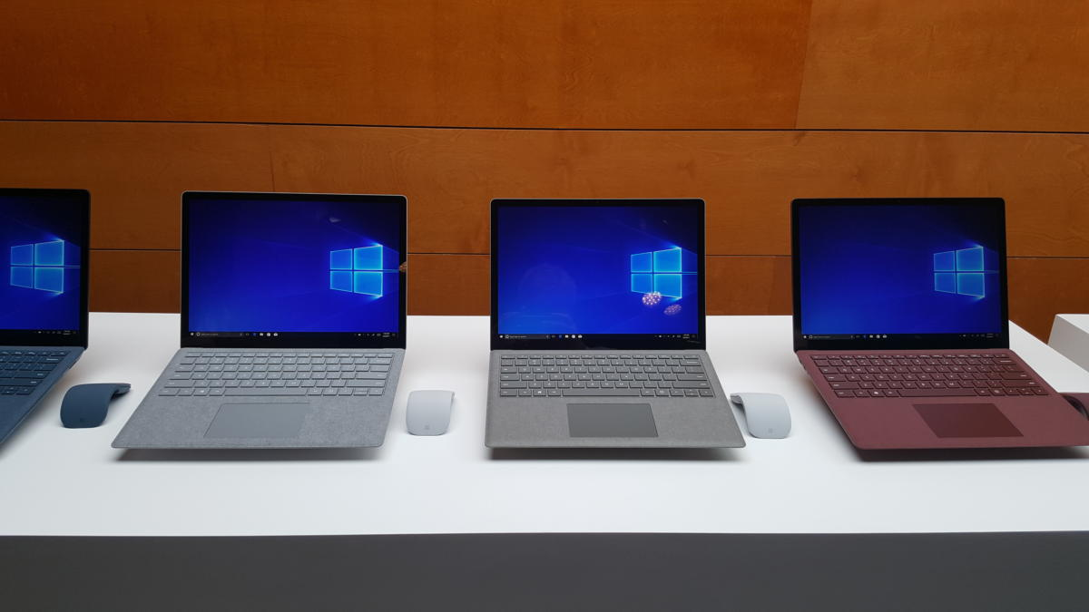 Windows 10 S Surface Laptops