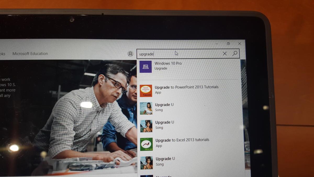 Microsoft Windows 10 S upgrade Store