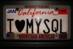 I love MySQL license plate heart