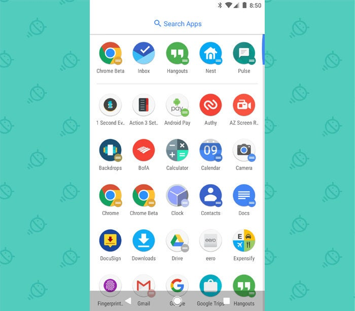 Action Launcher Android: App Drawer