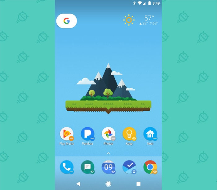 Action Launcher Android: Home Screen