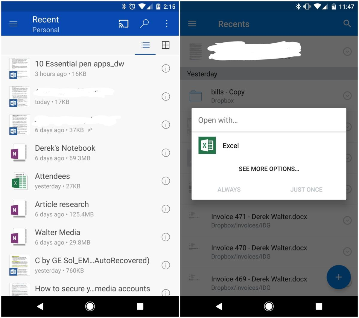 When your best android apps come from microsoft itnews - Office apps for android free ...