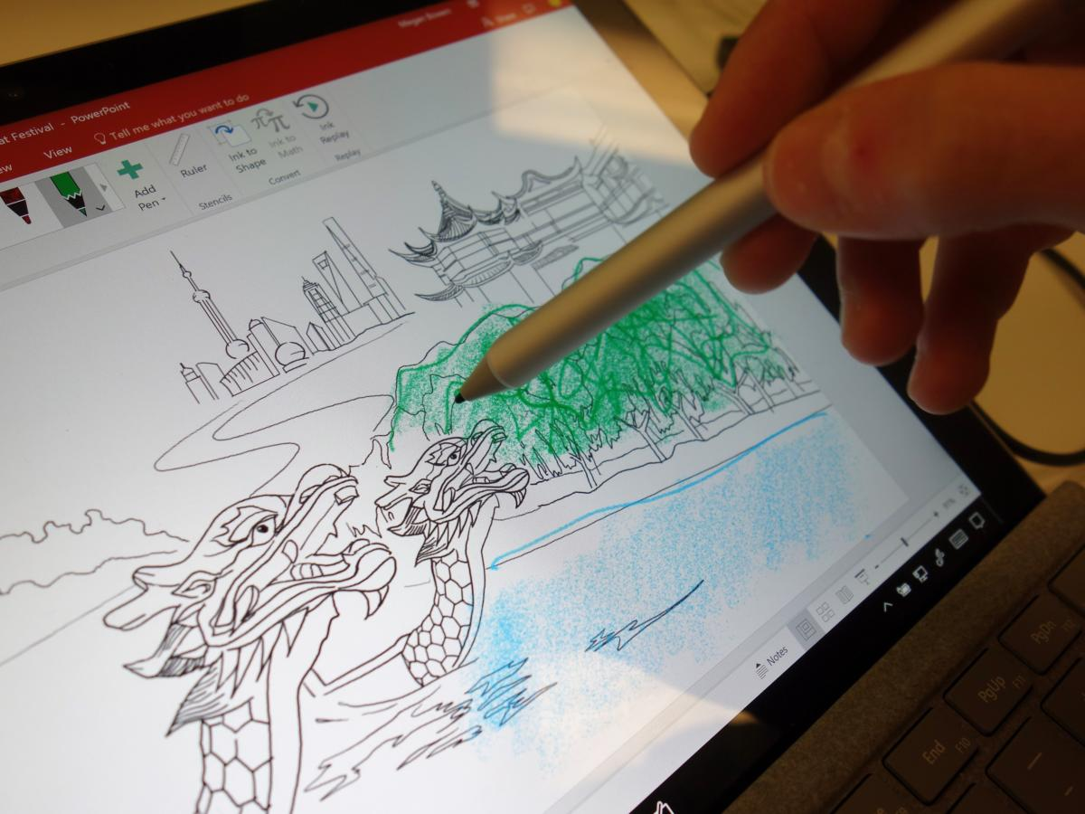 Microsoft shows the power of its Pen with a new Whiteboard ...