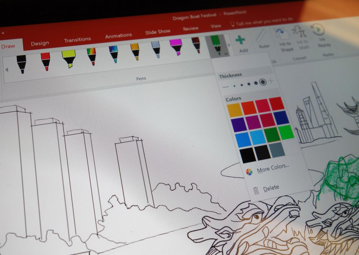 Microsoft Office shared pens