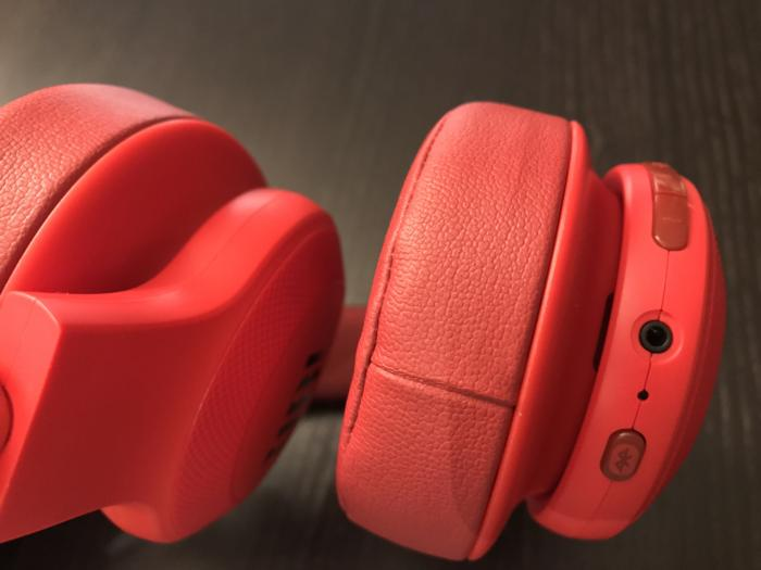 You can plug in a 3.5mm cable to run the headphones passively.  A Bluetooth button lets you pair mul
